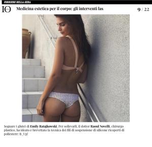 Io Donna Raoul Novelli Rassegna stampa Emily Ratajkowski